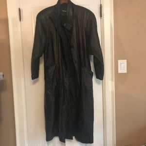 PELLE long women's leather coat